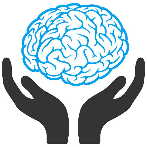 Hands with Brain Icon